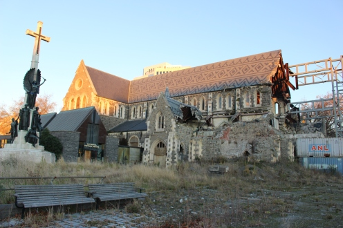 ChristChurch Cathedral, badly damaged in the 2011 earthquake