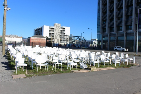 185 Chairs, representing the 185 deaths in the February 2011 earthquake