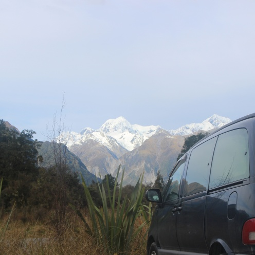 Sam, Mt Cook and Mt Tasman