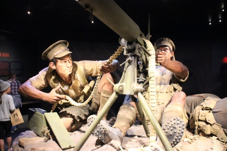 A machine gun team in the Te Papa Gallipoli exhibition