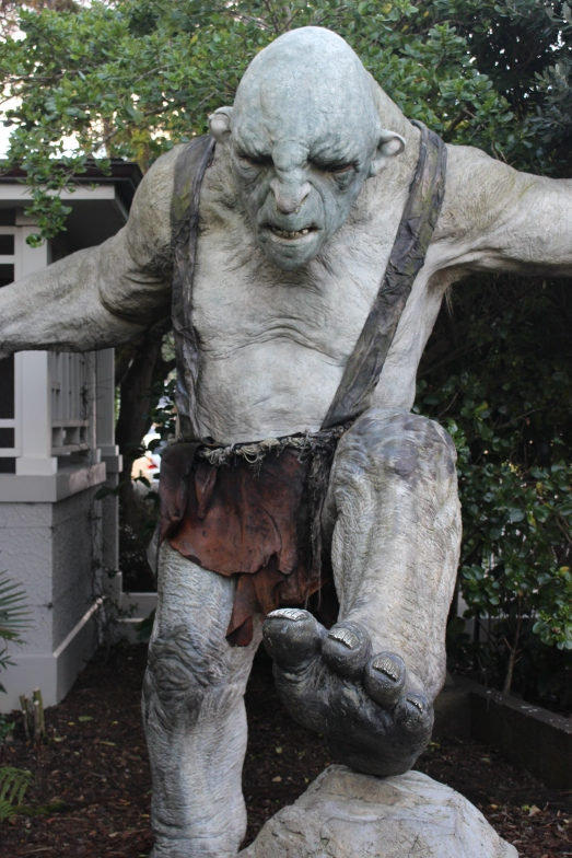 Troll guarding the entrance to the Weta Workshop